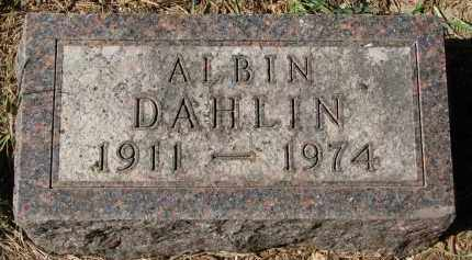 DAHLIN, ALBIN - Clay County, South Dakota | ALBIN DAHLIN - South Dakota Gravestone Photos