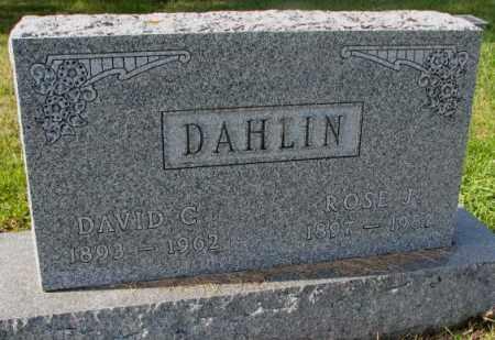 DAHLIN, ROSE J. - Clay County, South Dakota | ROSE J. DAHLIN - South Dakota Gravestone Photos