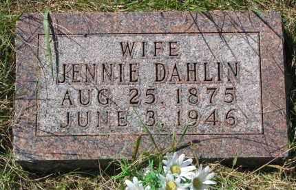 DAHLIN, JENNIE - Clay County, South Dakota   JENNIE DAHLIN - South Dakota Gravestone Photos