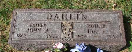 DAHLIN, IDA A. - Clay County, South Dakota | IDA A. DAHLIN - South Dakota Gravestone Photos