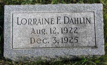 DAHLIN, LORRAINE F. - Clay County, South Dakota | LORRAINE F. DAHLIN - South Dakota Gravestone Photos