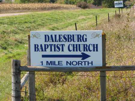 *DALESBURG BAPTIST, SIGN - Clay County, South Dakota   SIGN *DALESBURG BAPTIST - South Dakota Gravestone Photos