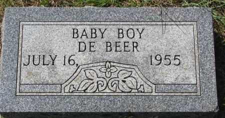 DE BEER, BABY BOY - Clay County, South Dakota   BABY BOY DE BEER - South Dakota Gravestone Photos