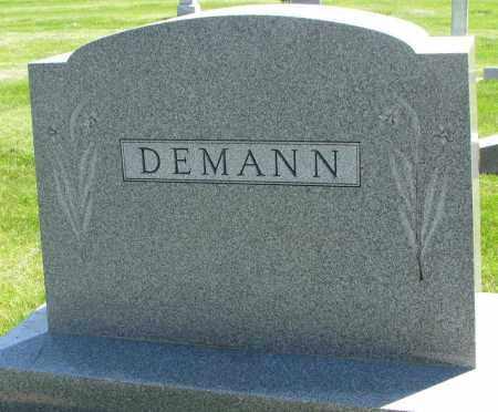 DEMANN, FAMILY STONE - Clay County, South Dakota | FAMILY STONE DEMANN - South Dakota Gravestone Photos