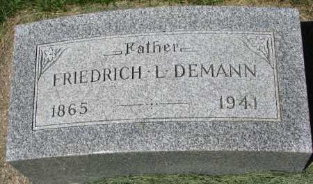 DEMANN, FRIEDRICH L. - Clay County, South Dakota | FRIEDRICH L. DEMANN - South Dakota Gravestone Photos