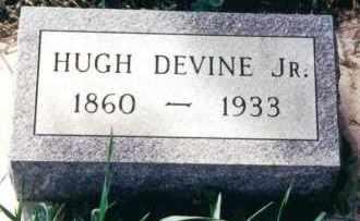 DEVINE, HUGH JR. - Clay County, South Dakota | HUGH JR. DEVINE - South Dakota Gravestone Photos