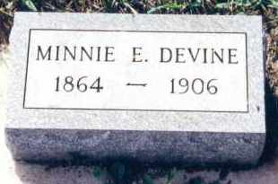 DEVINE, MINNIE ESTELLE - Clay County, South Dakota | MINNIE ESTELLE DEVINE - South Dakota Gravestone Photos