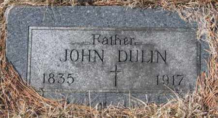 DULIN, JOHN - Clay County, South Dakota   JOHN DULIN - South Dakota Gravestone Photos