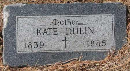 DULIN, KATE - Clay County, South Dakota | KATE DULIN - South Dakota Gravestone Photos