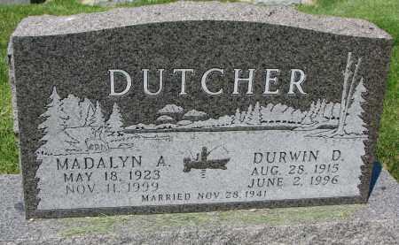 DUTCHER, MADALYN A. - Clay County, South Dakota | MADALYN A. DUTCHER - South Dakota Gravestone Photos