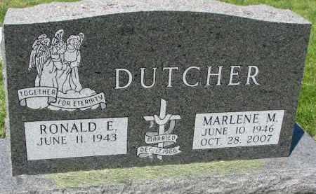 DUTCHER, RONALD E. - Clay County, South Dakota | RONALD E. DUTCHER - South Dakota Gravestone Photos