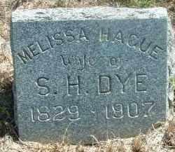 HAGUE DYE, MELISSA - Clay County, South Dakota | MELISSA HAGUE DYE - South Dakota Gravestone Photos