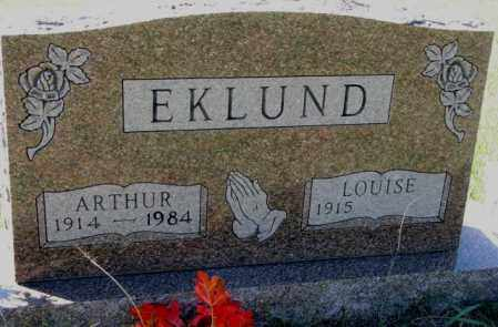 EKLUND, ARTHUR - Clay County, South Dakota | ARTHUR EKLUND - South Dakota Gravestone Photos