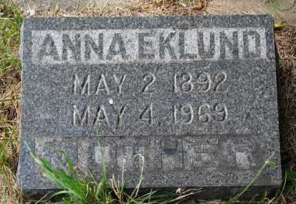 EKLUND, ANNA - Clay County, South Dakota | ANNA EKLUND - South Dakota Gravestone Photos