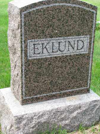 EKLUND, FAMILY STONE - Clay County, South Dakota   FAMILY STONE EKLUND - South Dakota Gravestone Photos
