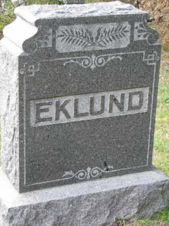 EKLUND, FAMILY STONE - Clay County, South Dakota | FAMILY STONE EKLUND - South Dakota Gravestone Photos