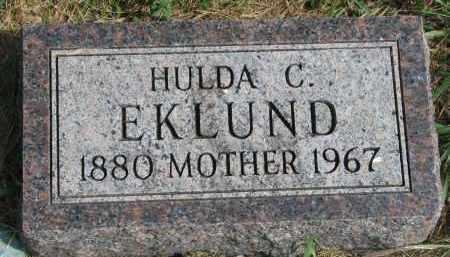 EKLUND, HULDA C. - Clay County, South Dakota   HULDA C. EKLUND - South Dakota Gravestone Photos