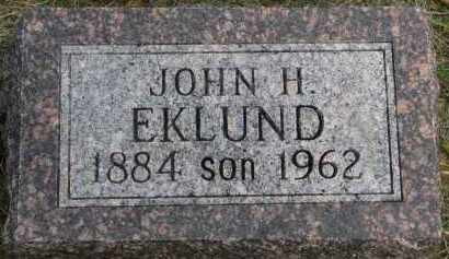 EKLUND, JOHN H. - Clay County, South Dakota   JOHN H. EKLUND - South Dakota Gravestone Photos