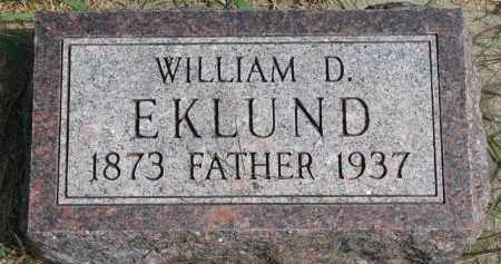 EKLUND, WILLIAM D. - Clay County, South Dakota | WILLIAM D. EKLUND - South Dakota Gravestone Photos