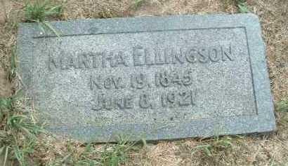 ELLINGSON, MARTHA - Clay County, South Dakota | MARTHA ELLINGSON - South Dakota Gravestone Photos