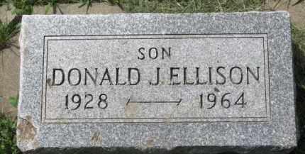 ELLISON, DONALD J. - Clay County, South Dakota | DONALD J. ELLISON - South Dakota Gravestone Photos