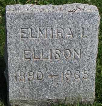 ELLISON, ELMIRA I. - Clay County, South Dakota | ELMIRA I. ELLISON - South Dakota Gravestone Photos