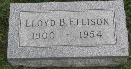 ELLISON, LLOYD B. - Clay County, South Dakota | LLOYD B. ELLISON - South Dakota Gravestone Photos