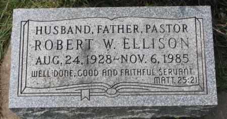 ELLISON, ROBERT W. - Clay County, South Dakota   ROBERT W. ELLISON - South Dakota Gravestone Photos