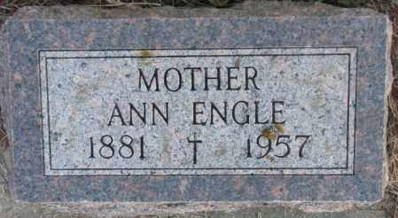 ENGLE, ANN - Clay County, South Dakota   ANN ENGLE - South Dakota Gravestone Photos