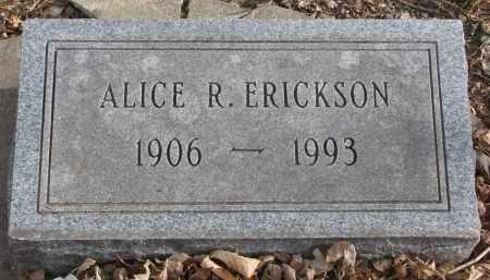 ERICKSON, ALICE R. - Clay County, South Dakota | ALICE R. ERICKSON - South Dakota Gravestone Photos