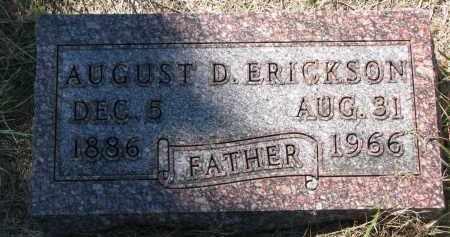 ERICKSON, AUGUST D. - Clay County, South Dakota   AUGUST D. ERICKSON - South Dakota Gravestone Photos