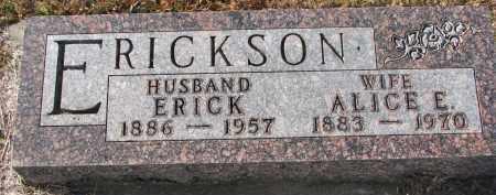 ERICKSON, ERICK - Clay County, South Dakota | ERICK ERICKSON - South Dakota Gravestone Photos