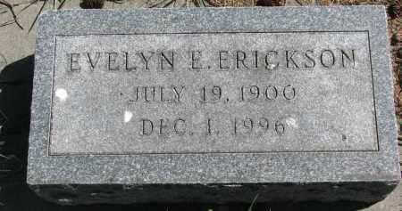 ERICKSON, EVELYN E. - Clay County, South Dakota | EVELYN E. ERICKSON - South Dakota Gravestone Photos