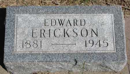 ERICKSON, EDWARD - Clay County, South Dakota | EDWARD ERICKSON - South Dakota Gravestone Photos