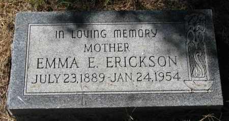 ERICKSON, EMMA E. - Clay County, South Dakota   EMMA E. ERICKSON - South Dakota Gravestone Photos