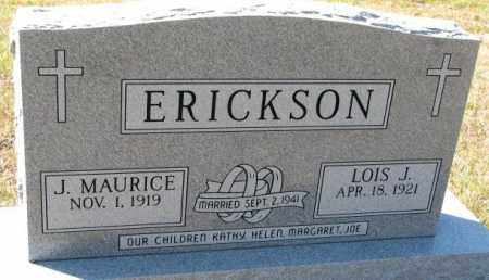 ERICKSON, J. MAURICE - Clay County, South Dakota | J. MAURICE ERICKSON - South Dakota Gravestone Photos