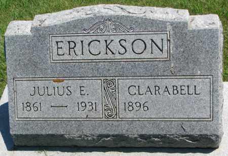 ERICKSON, JULIUS E. - Clay County, South Dakota | JULIUS E. ERICKSON - South Dakota Gravestone Photos