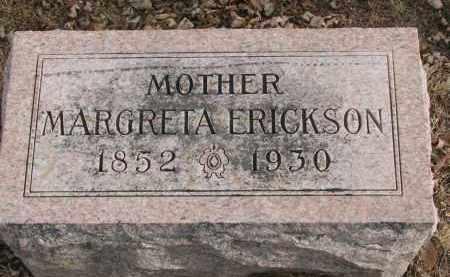 ERICKSON, MARGRETA - Clay County, South Dakota | MARGRETA ERICKSON - South Dakota Gravestone Photos