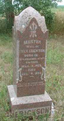 ERICKSON, MARTHA - Clay County, South Dakota | MARTHA ERICKSON - South Dakota Gravestone Photos