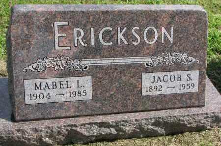 ERICKSON, JACOB S. - Clay County, South Dakota | JACOB S. ERICKSON - South Dakota Gravestone Photos