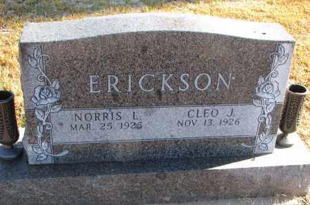 ERICKSON, NORRIS L. - Clay County, South Dakota | NORRIS L. ERICKSON - South Dakota Gravestone Photos