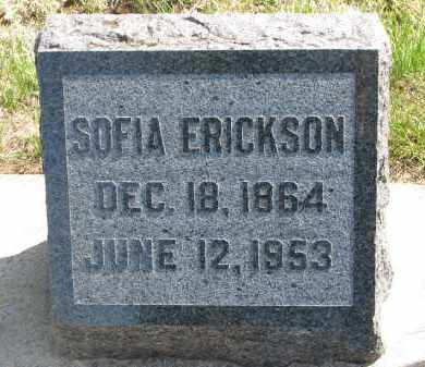ERICKSON, SOFIA - Clay County, South Dakota   SOFIA ERICKSON - South Dakota Gravestone Photos