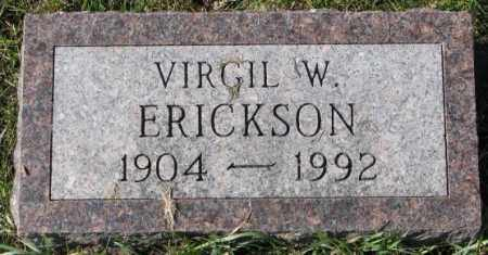 ERICKSON, VIRGIL W. - Clay County, South Dakota   VIRGIL W. ERICKSON - South Dakota Gravestone Photos