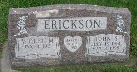 ERICKSON, VIOLET M. - Clay County, South Dakota | VIOLET M. ERICKSON - South Dakota Gravestone Photos