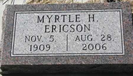 ERICSON, MYRTLE H. - Clay County, South Dakota | MYRTLE H. ERICSON - South Dakota Gravestone Photos