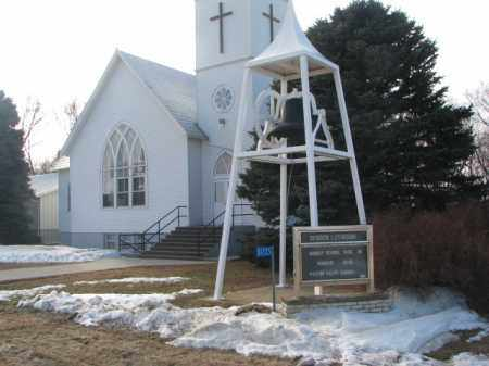 **EVERGREEN-BERGEN LUTHERAN, CHURCH - Clay County, South Dakota | CHURCH **EVERGREEN-BERGEN LUTHERAN - South Dakota Gravestone Photos