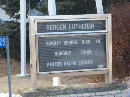 *EVERGREEN-BERGEN LUTHERAN, CHURCH SIGN - Clay County, South Dakota   CHURCH SIGN *EVERGREEN-BERGEN LUTHERAN - South Dakota Gravestone Photos