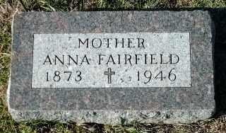 FAIRFIELD, ANNA - Clay County, South Dakota | ANNA FAIRFIELD - South Dakota Gravestone Photos