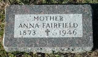 FAIRFIELD, ANNA - Clay County, South Dakota | ANNA FAIRFIELD - South Dakota Gravestone Photos