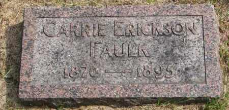 ERICKSON FAULK, CARRIE - Clay County, South Dakota | CARRIE ERICKSON FAULK - South Dakota Gravestone Photos